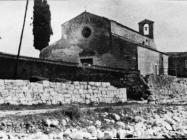 Bazilika sv. Marije u Vrsaru početkom 50-ih godina, Vrsar. (fn. 1119) Iz arhive Arheološkog muzeja Istre