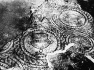 Mozaik u bazilici sv. Marije u Vrsaru 1970. godine, Vrsar. (bn. 10843) Iz arhive Arheološkog muzeja Istre