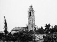 Crkva sv. Jurja u Završju 1967. godine, Završje (fn. 8699.) Iz arhive Arheološkog muzeja Istre