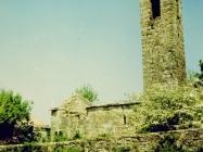 Crkva sv. Jurja u Završju početkom 90-ih godina, Završje(fn. 28164.) Iz arhive Arheološkog muzeja Istre