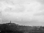 Pogled na Žminj sa Svete Foške, Žminj. (bn. 2701b) Iz arhive Arheološkog muzeja Istre